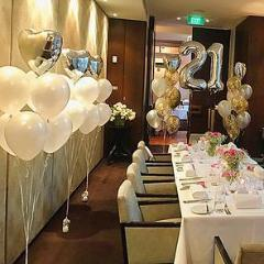 "11"" Qualatex Plain Latex Balloon - Round Pearl White,Balloon - Everything Party"