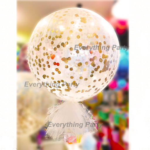 3ft confetti balloon with tulle