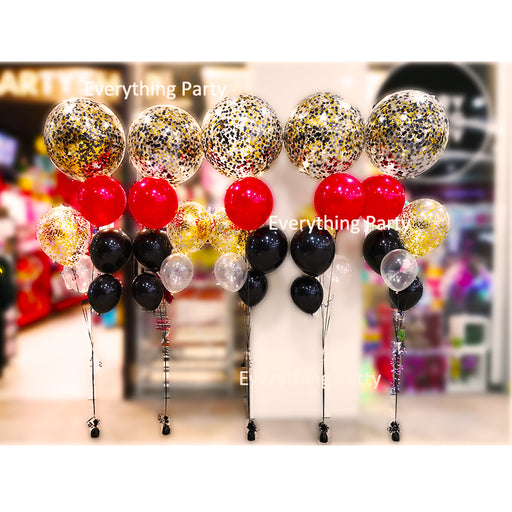 2ft jumbo confetti helium balloon bouquet