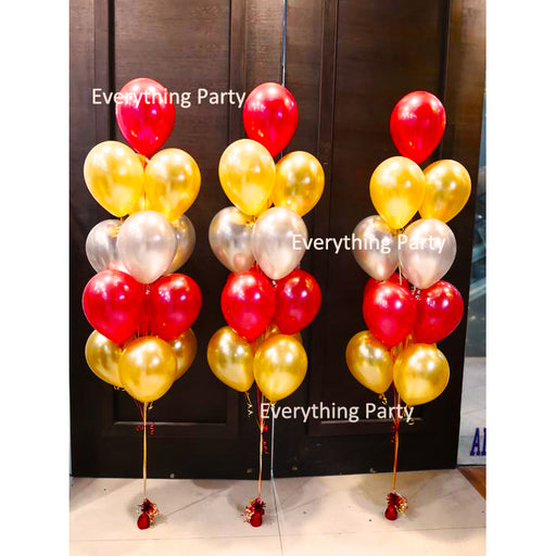 "11"" metallic plain colour helium balloon bouquet"