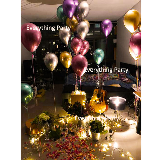 "11"" chrome latex helium balloon decoration"