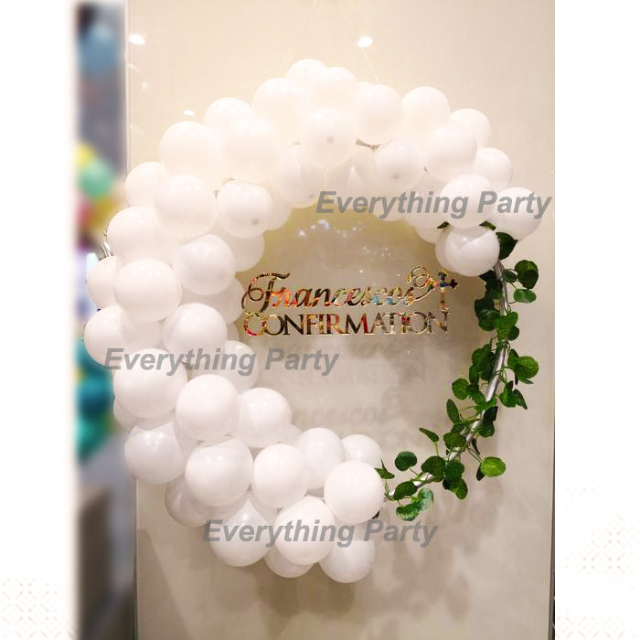Birthday Balloon Wreath With Name