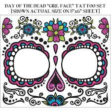 day of the dead face tattoos