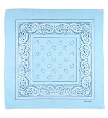 blue assorted bandana