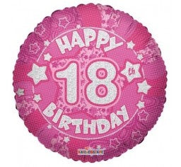 18 Happy 18th Birthday Pink Foil Balloon Everything Party