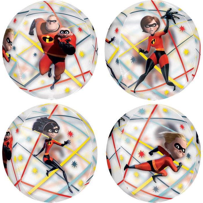 "16"" Licensed Orbz Disney Incredibles 2 Round Balloon"
