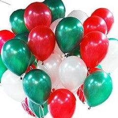 "11"" Qualatex Plain Latex Balloon - Round Pearl Emerald Green"