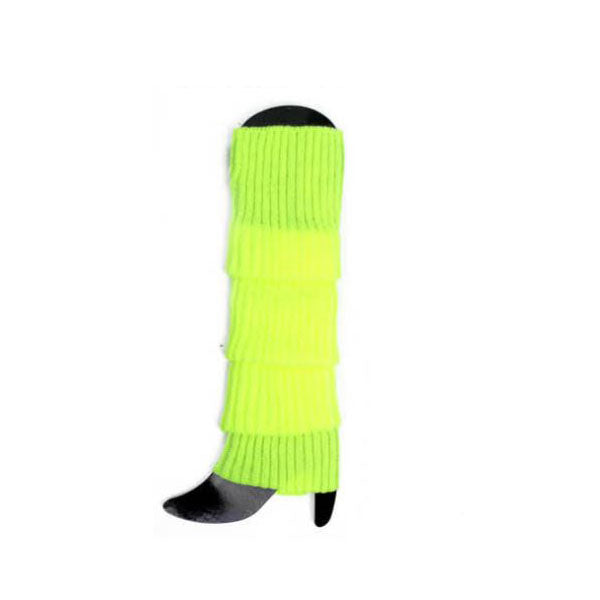 fluro yellow leg warmers