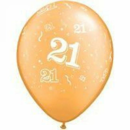 21st birthday latex balloon