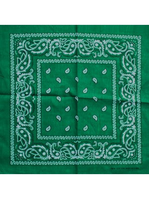 green assorted bandana
