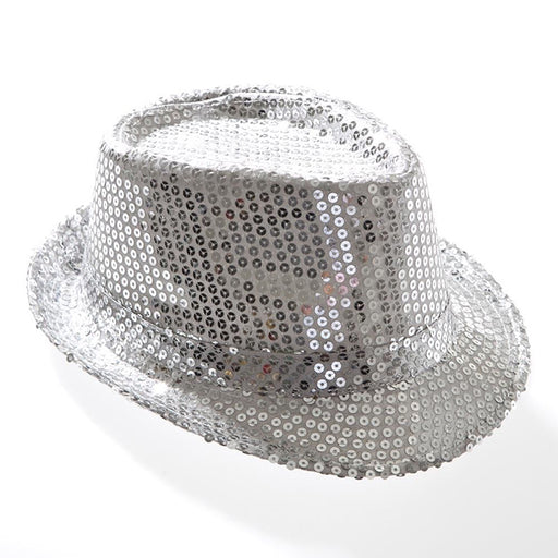 silver disco sequin hat