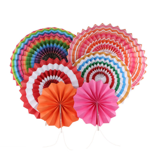 decoration paper fan rainbow