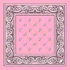light pink assorted bandana