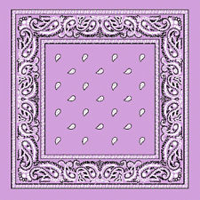 Light purple assorted bandana