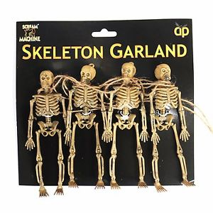 halloween hanging skeleton garland