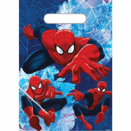 spiderman party bags, spiderman lolly bag