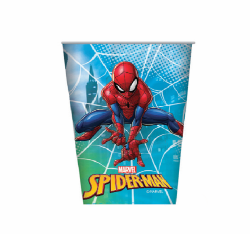 8pk Marvel Spiderman Paper Cups,Tableware - Everything Party