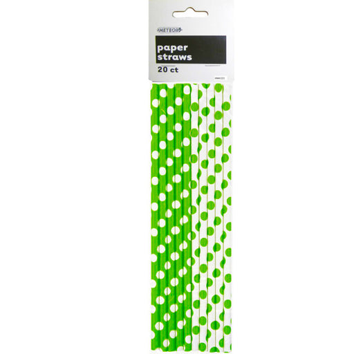 Green dots paper straws