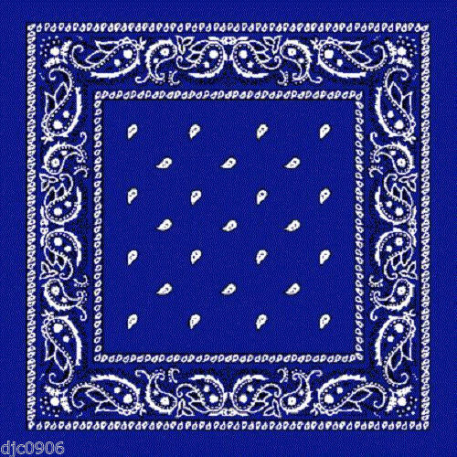Royal blue assorted bandana
