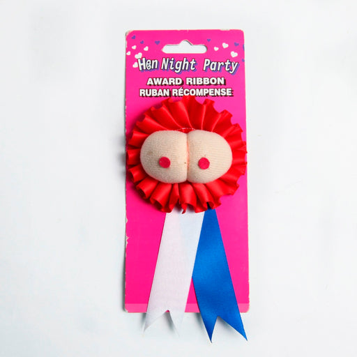 boobs badge, boobs award ribbon, hens night ribbon