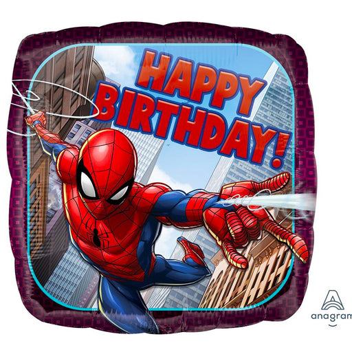 spiderman birthday helium balloon