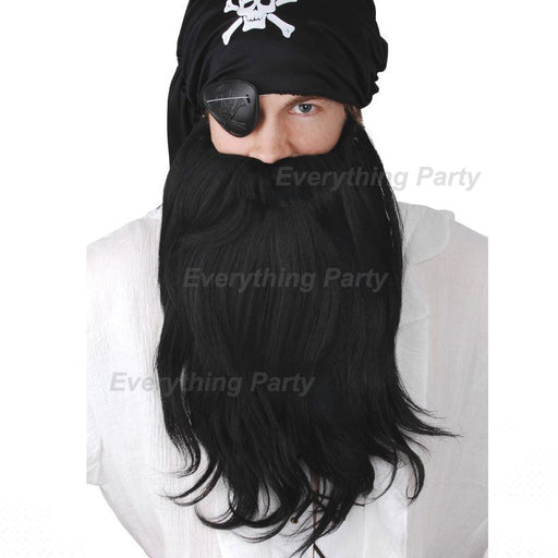 Pirate beard, pirate wig, pirate mo