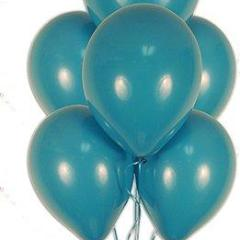 "11"" Qualatex Plain Latex Balloon - Round Fashion Tropical Teal,Balloon - Everything Party"