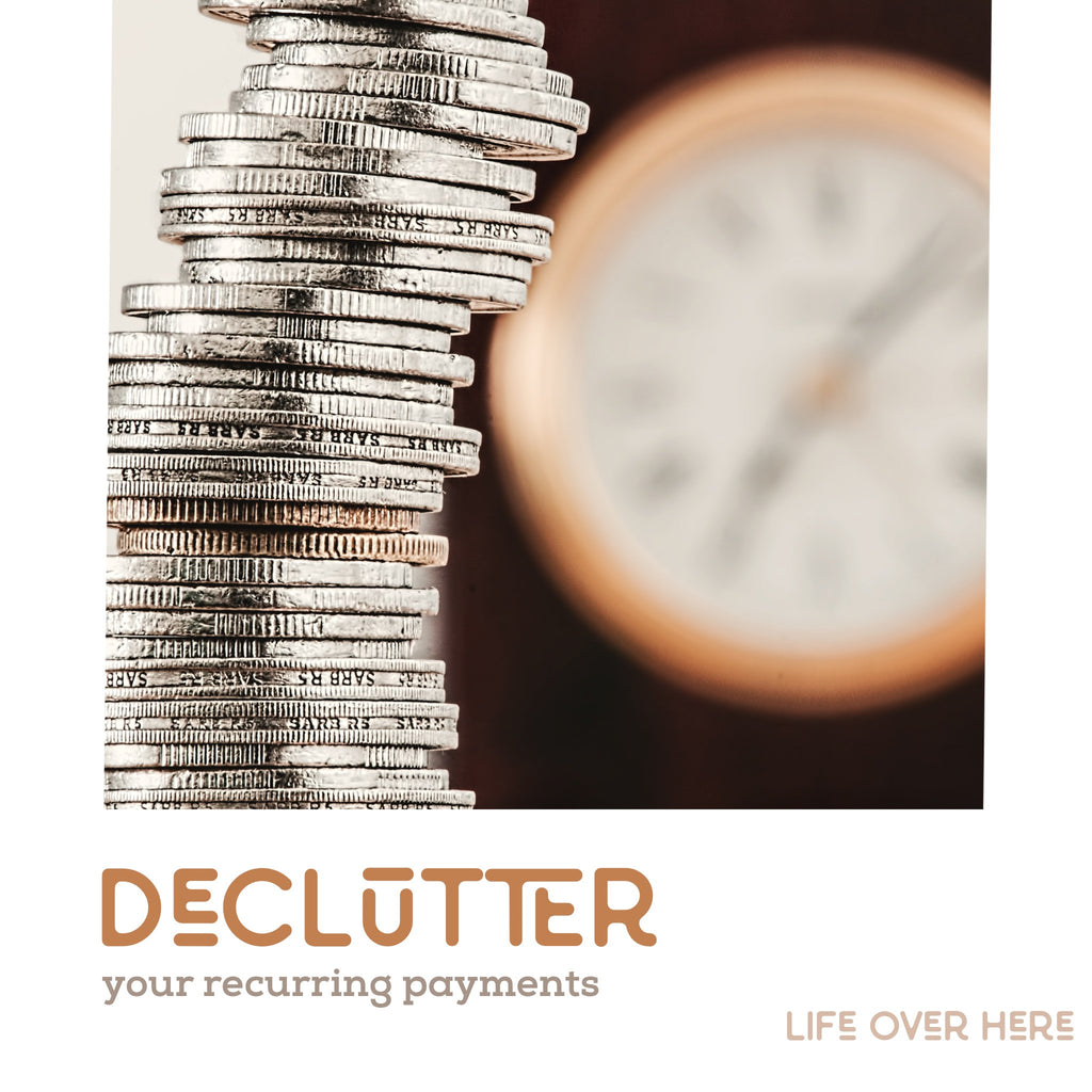 Decluttering Your Recurring Payments