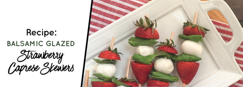 strawberry caprese skewer appetizers