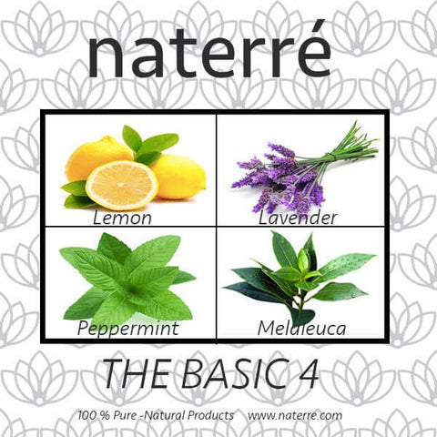 Naterre Essential Oils Basic 4 Pack