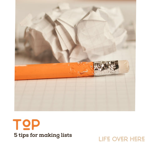 pencil and paper to make a list