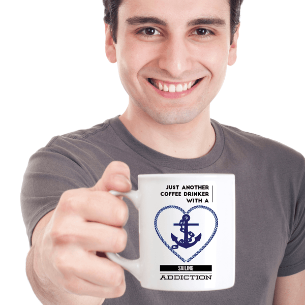 Man Holding Sailing Coffee Mug