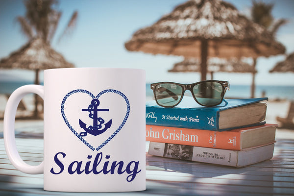 Nautical Coffee Mug at the Beach