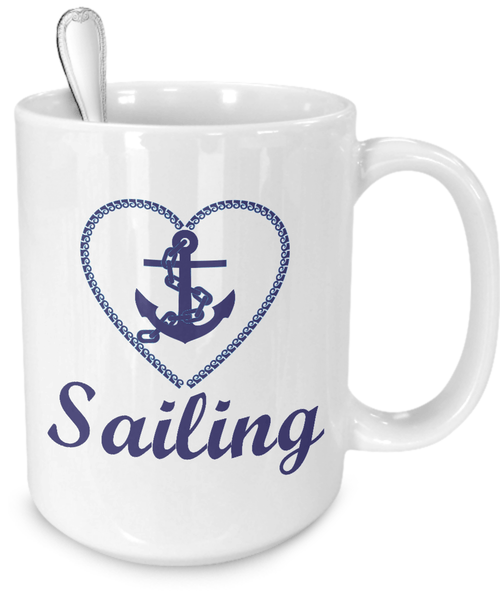 Sailing Gift - Blue Anchor Coffee Mug