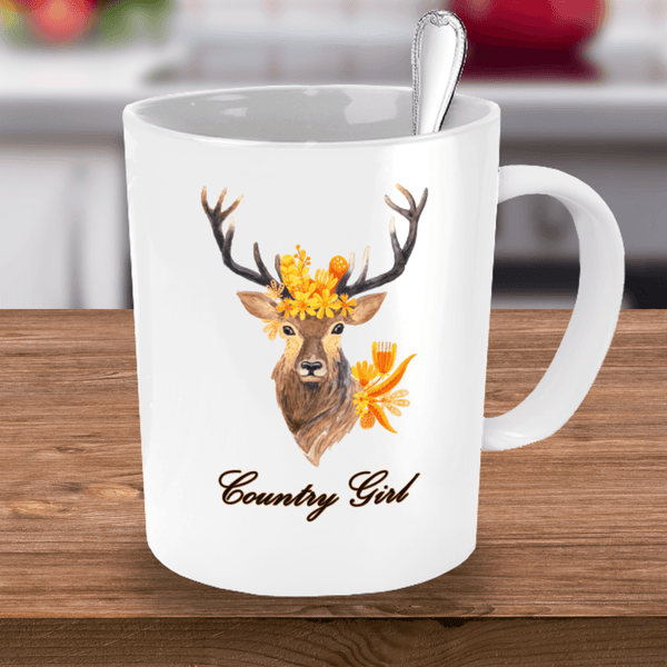 buck deer ceramic coffee mug for nature lovers