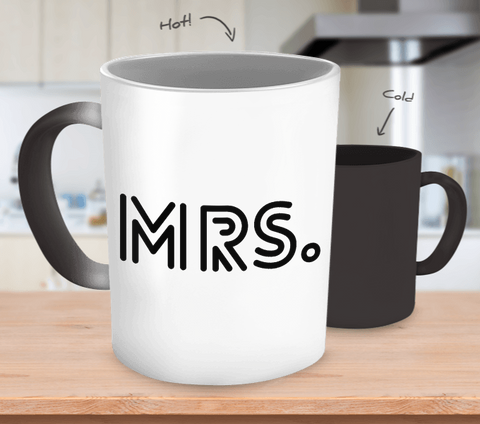 Mrs. Modern Frisco - Color Changing Coffee Mug