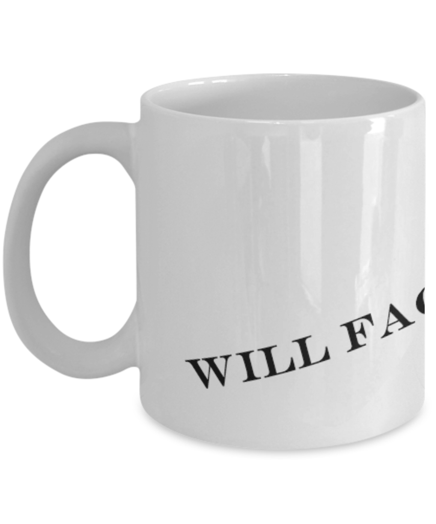 Will Facebook For Food - Funny Coffee Mug (White)