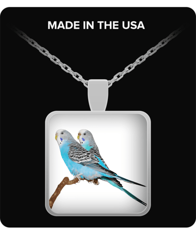 parakeet jewelry - parakeet necklace - gifts for budgie lovers