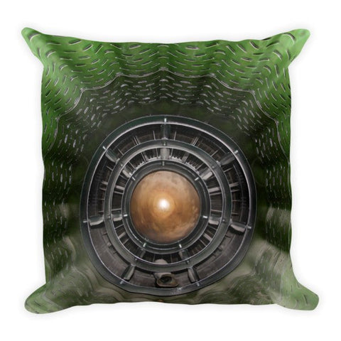 Airplane Turbine Throw Pillow