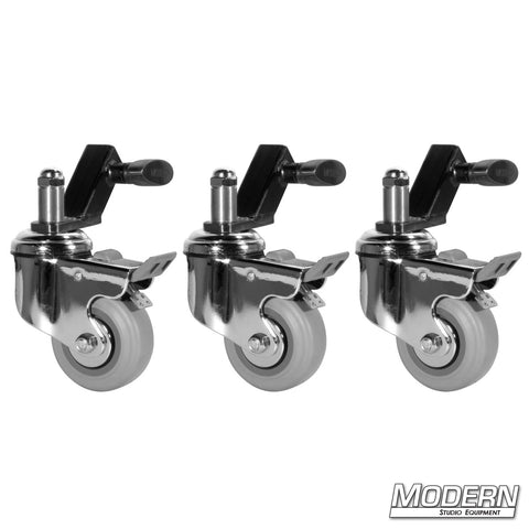 Wheels for Baby Stands (Set of 3 Wheels & Slip on Adapters)