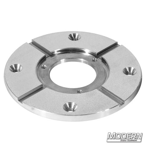 "ROUND MITCHELL PLATE WITH 4 COUNTERSUNK HOLES (MEASURES 7-3/4"" IN DIAM.)"