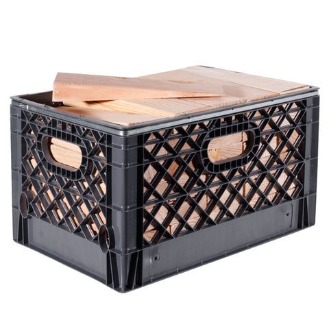 Rectangular Milk Crate with 70 Track Wedges