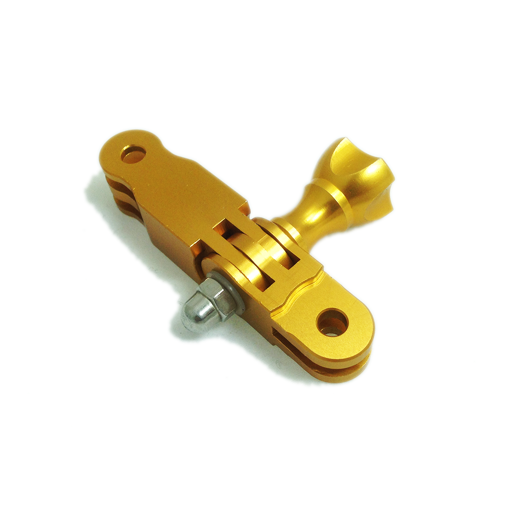 Camera Mount | CNC Aluminium 3 Way Adjustable Extension Arm | Gold