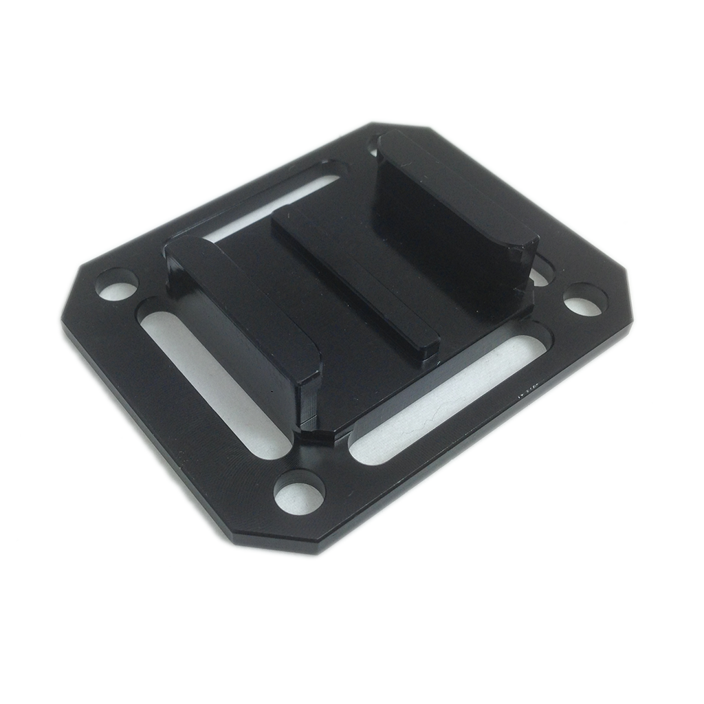 Camera Mount | CNC Aluminium Square Universal Buckle Mount | Black