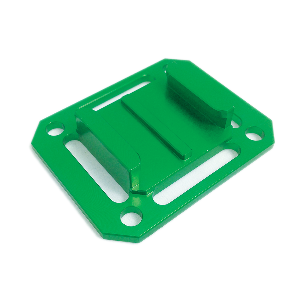 Camera Mount | CNC Aluminium Square Universal Buckle Mount | Green