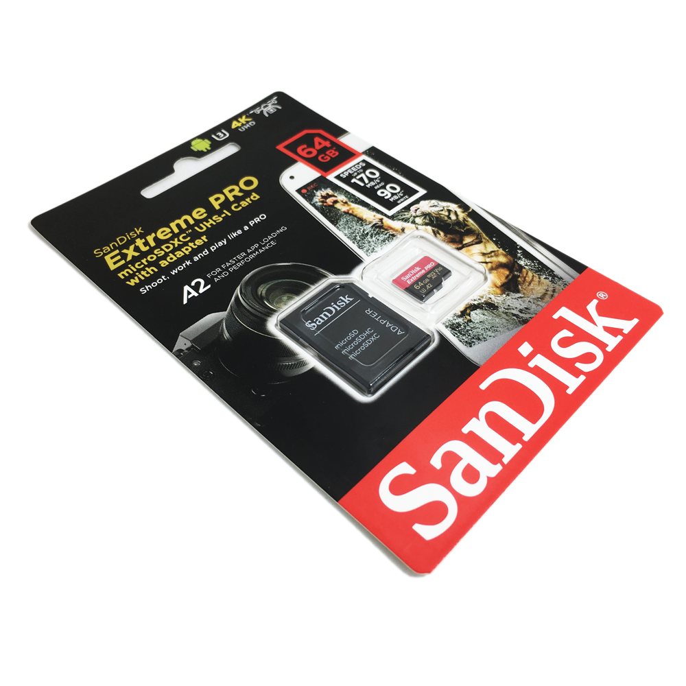 Memory Card Micro Sd Sandisk 64gb Extreme Pro Adaptor Adapter