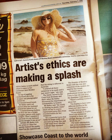 Monkey Beans Beachwear Australia in the PAPER!!!