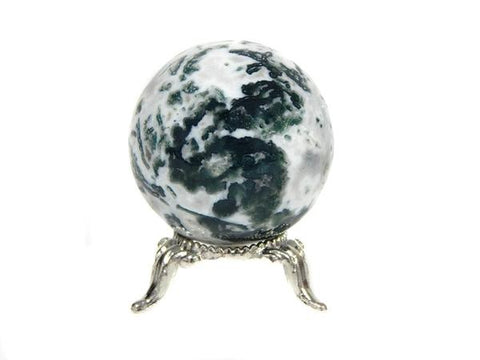 Moss Agate Sphere, Healing Crystals