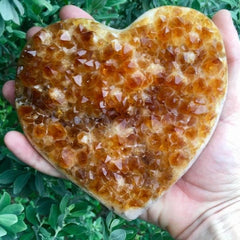 Nature's Treasures ATX Citrine Heart Cluster