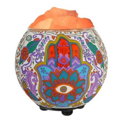 Nature's Treasures Hamsa Himalayan Salt Lamp Oil Diffuser